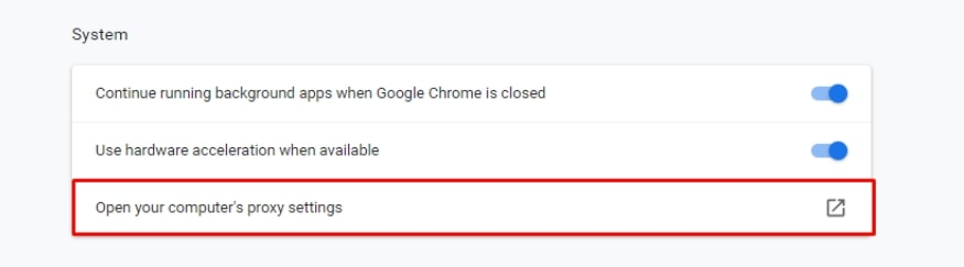 How to Configure Proxy Settings on Chrome