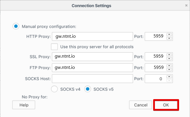 Configure proxy setting on Parsehub - netnut residential proxy network 7